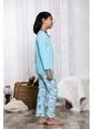 Lingabooms Unicorn 2'li Çocuk Pijama Takım  Yeşil